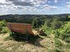 Der Aussichtspunkt mit Waldsofa und traumhaften Ausblick