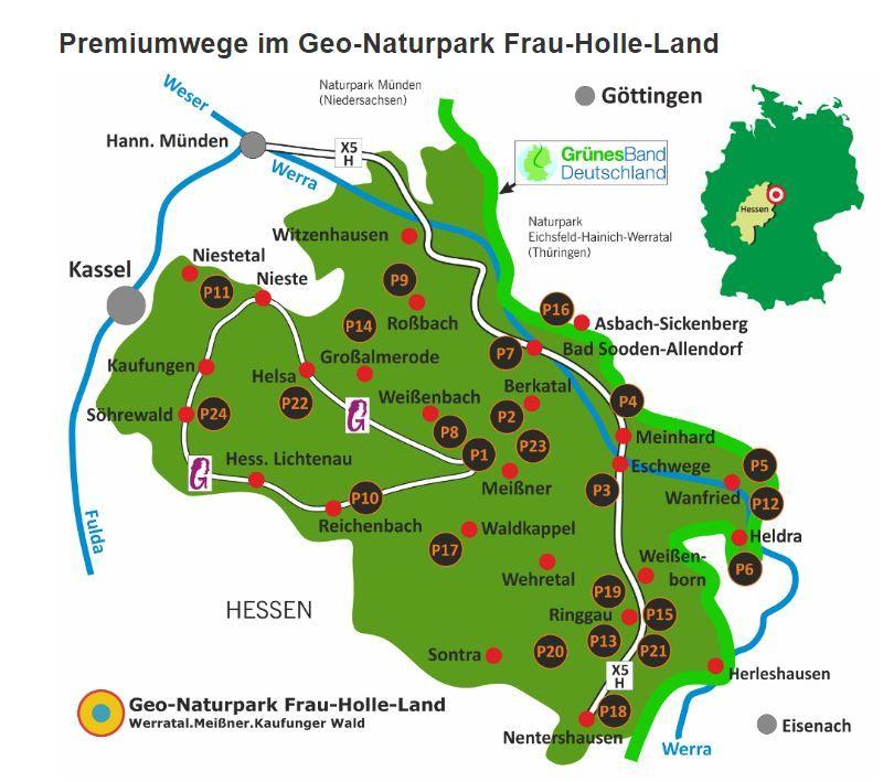 23 Premiumroutes in het Geo-Natuurpark Vrouw-Holle-land