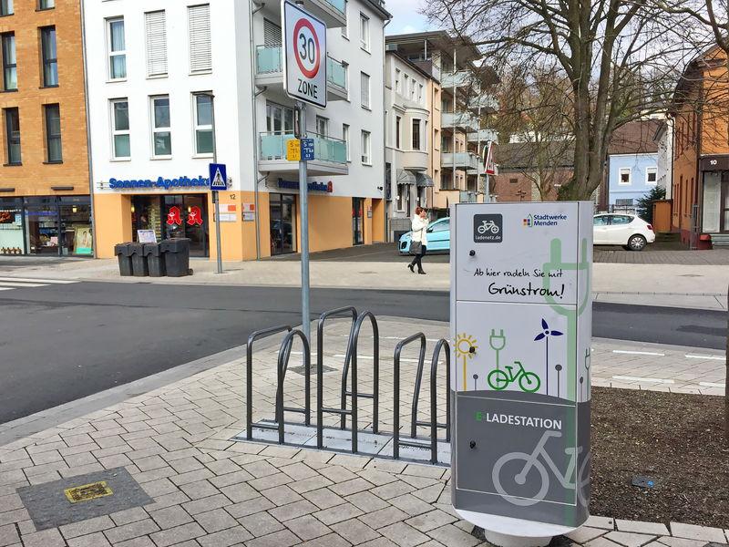 E-Ladestation für E-Fahrräder