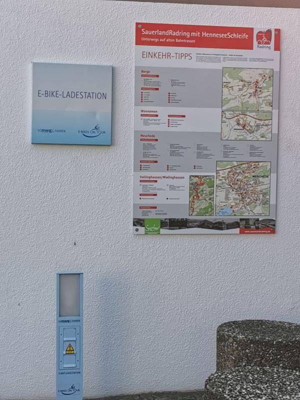E-Bike Ladestation am Kreishaus Meschede