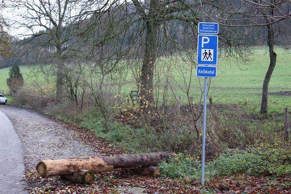 Willkommen beim Wanderparkplatz Kelbketal!