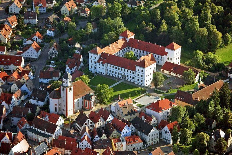 Schloss Meßkirch und Statdkirche St. Martin