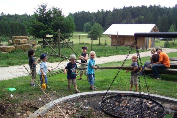 Spielplatz im Wildgehege Meßstetten
