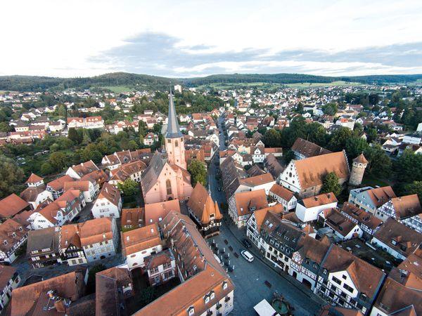 Altstadt Michelstadt von oben