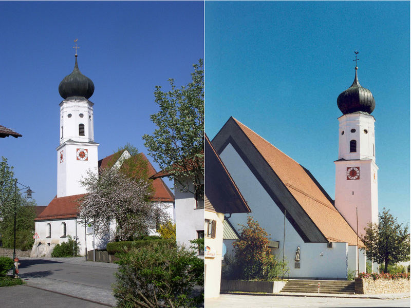 Blick auf die Kath. Pfarrkirche ST. MARTIN in Miltach im Kötztinger Land
