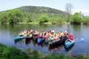 Bootswandern auf dem Fluss Regen bei Miltach