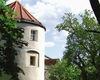 Turm auf der Burganlage in Mitterfels
