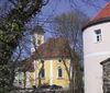 Blick auf die Sankt-Georgs-Kirche in Mitterfels im Bayerischen Wald