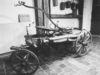 Altes Feuerwehr-Fahrzeug im Heimatmuseum auf der Burg Mitterfels