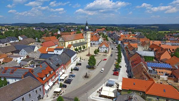 Luftaufnahme der Stadt Mitterteich