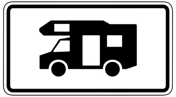 Schild Wohnmobil