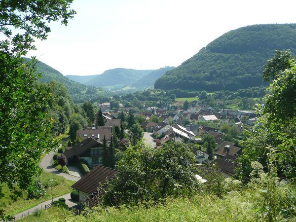 Blick vom Sterneckbergweg auf Mühlhausen
