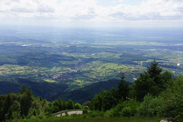 Blick vom Hochblauen ins Rheintal