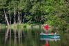 Angler im Boot am Katharinensee, Foto: Florian Läufer