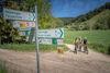 Die Berg Bier-Tour ist über die gesamte Strecke genau ausgeschildert - Folgen Sie dem gelben Zeichen!