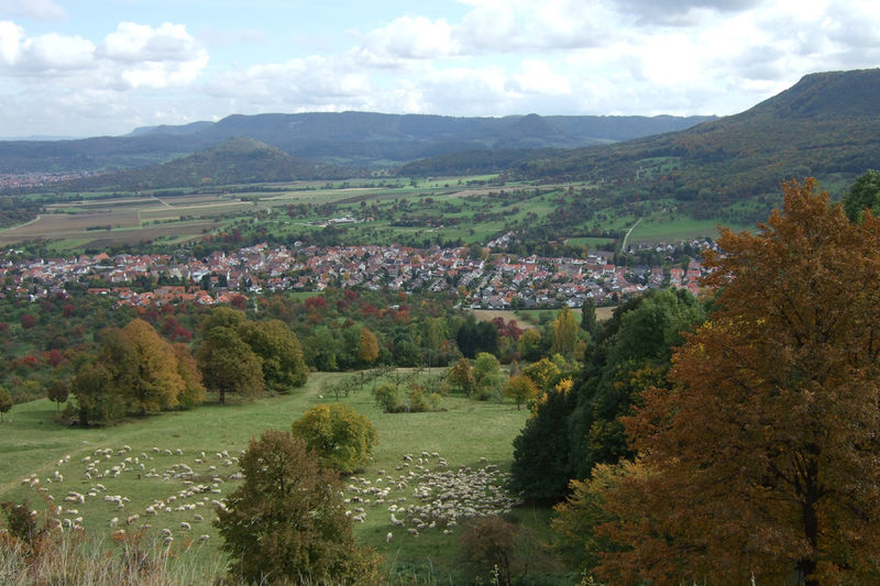 Blick von der Burg Teck