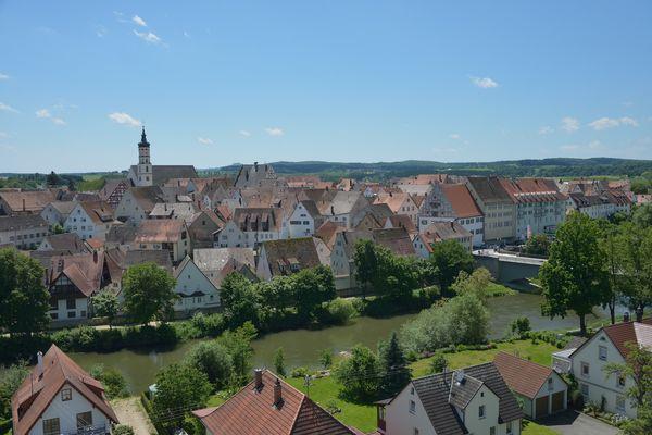 Munderkingen Stadtansicht und Donau