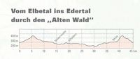 """Vom Elbetal ins Edertal durch den """"Alten Wald"""""""