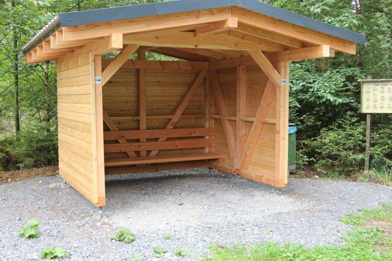 Bietet Schutz zu jeder Jahreszeit: die Schutzhütte Falkenlei