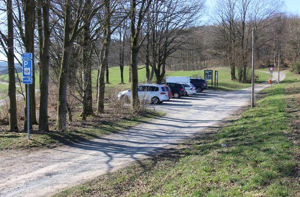 Parkfläche Wanderparkplatz Imberg