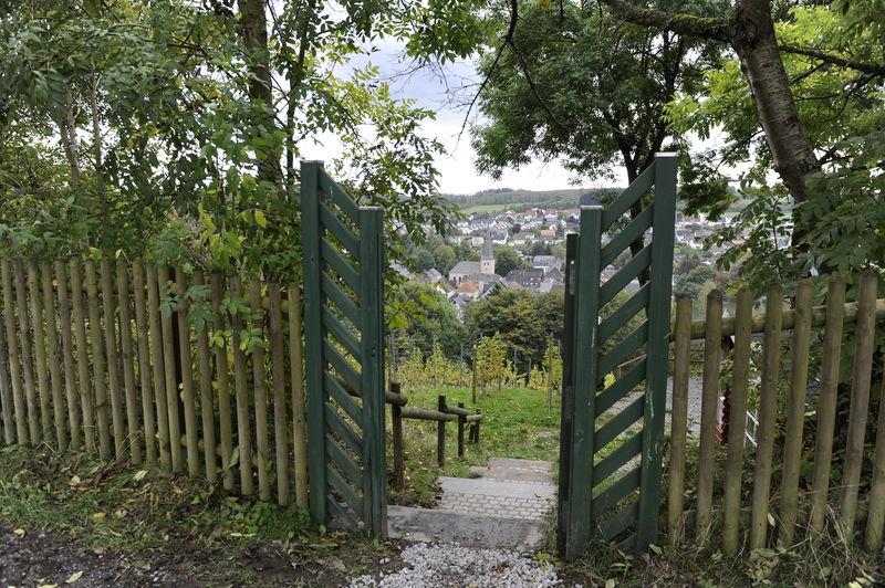 Blick auf Neuenrade durch das Tor vom Weinberg