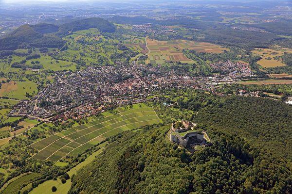 Neuffen Luftbild von Osten