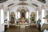 Innenansicht der Pfarrkirche St. Benedikt in Neuler