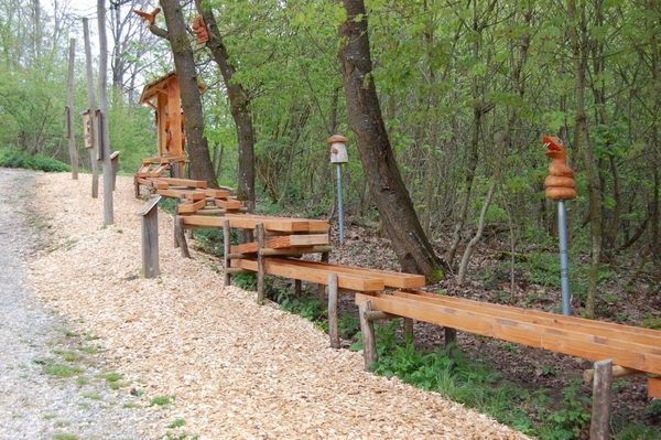 Kugelbahn beim Waldwunderweg in Neuler