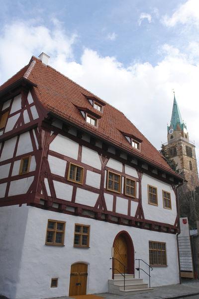 Das Schreiberhaus und das Münster St. Johannes stammen aus dem selben Jahrhundert