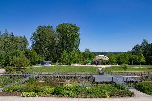Der LGS-Park wird von den Neumarktern als florierender Ort der Erholung geschätzt