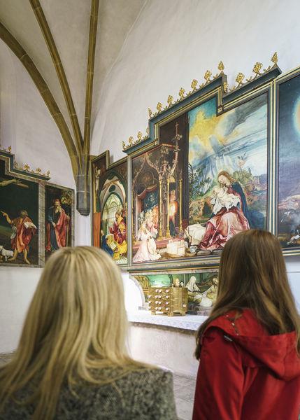 Die Kopie des Isenheimer Altars in der Kirche