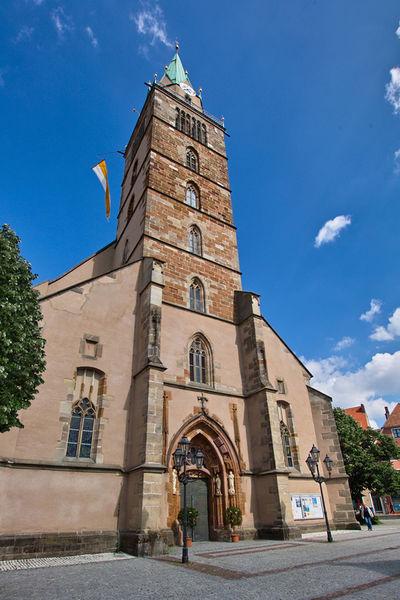 72 Meter erhebt sich der Turm von St. Johannes über der Stadt