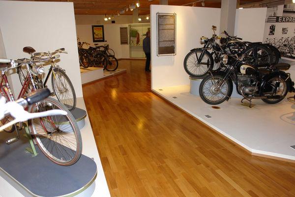 Dauerausstellung zu einer der ältesten Fahrradfabriken Europas, den Express-Werken
