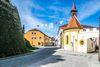 Historische Altstadt mit Schloss in Neunburg vorm Wald.