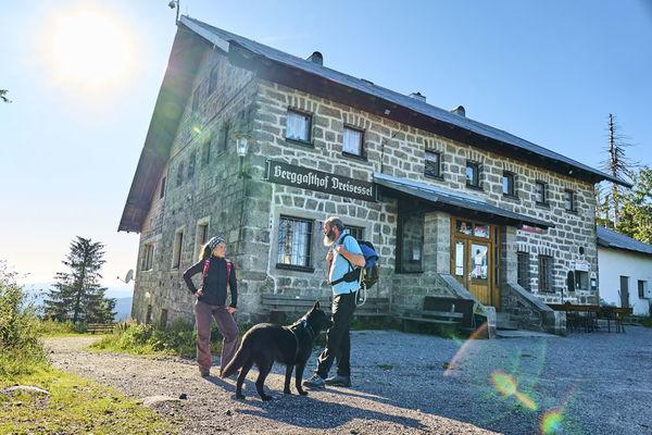 Der Berggasthof Dreisessel im Bayerischen Wald