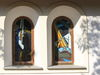 Fensterbilder der Dorfkapelle ST. JOSEF in Schönanger bei Neuschönau