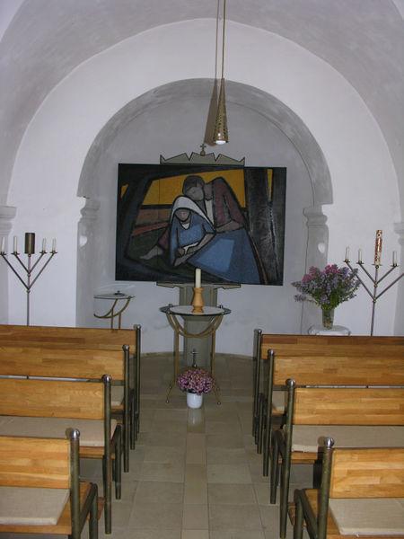 Blick auf den Altar der Dorfkapelle ST. JOSEF in Schönanger bei Neuschönau