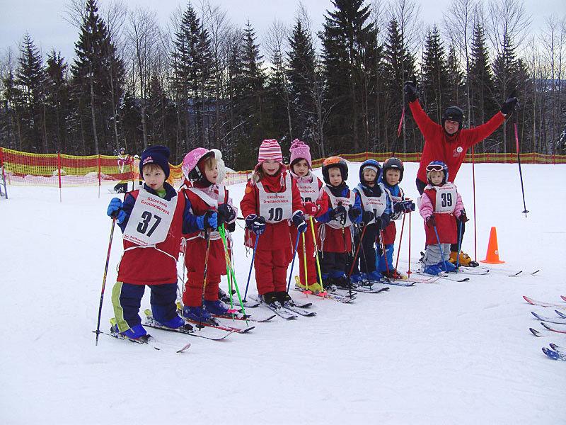 Kinderspaß am Skilift in Waldhäuser bei Neuschönau im Nationalpark Bayerischer Wald