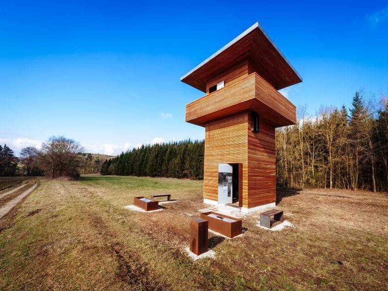 Limeswachtturm in Hienheim bei Neustadt a. d. Donau im Hopfenland Hallertau
