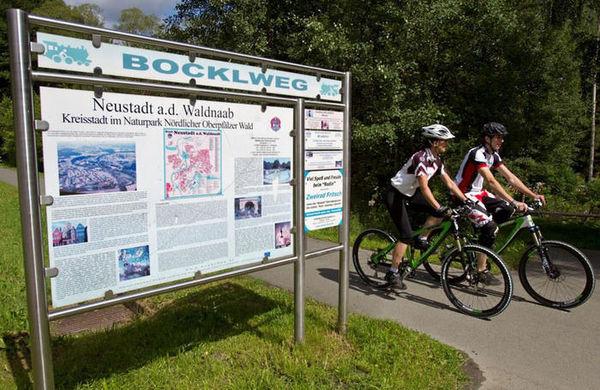 Infotafel am Bockl-Radweg