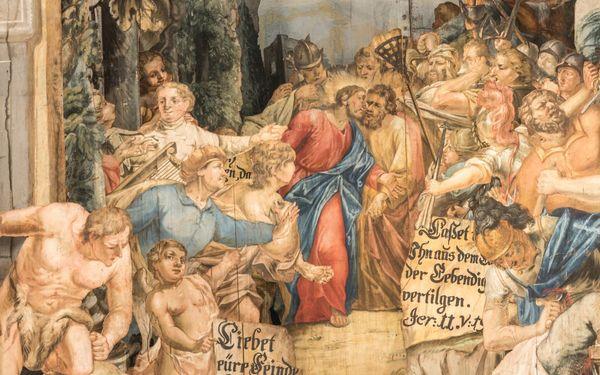 Museum Himmlisches Theater - Die Neuzeller Passionsdarstellungen vom Heiligen Grab - Judaskuss, Foto: Bernd Geller