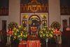 Altar in der St. Nikolaus-Kirche der Benediktinerabtei Niederaltaich