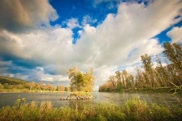 Isarmündung bei Deggendorf: Zusammenfluss von Isar und Donau