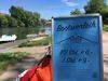 Schild der Nürtinger Bootspartie am Neckar
