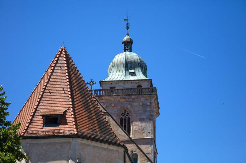 Blick auf die Stadtkirche St. Laurentius Nürtingen
