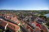Panoramablick von der Stadtkirche, Blick auf Neckar und Albtrauf