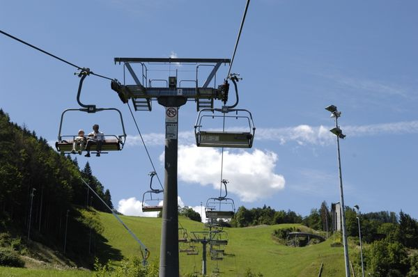 Vierer-Sessel der Bergbahn Hocheck.