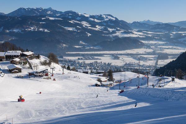 Skifahren am Hocheck