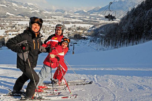 Skifahrer am Hocheck