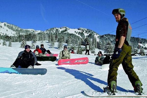 Snowboardkurs mit der Skischule Hocheck.